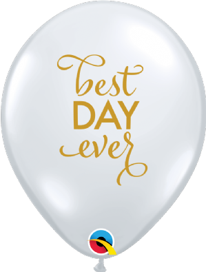 Clear Simply Best Day Ever Latex Balloons | Free Delivery Available